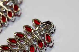 Red Czech Crystal Clipons