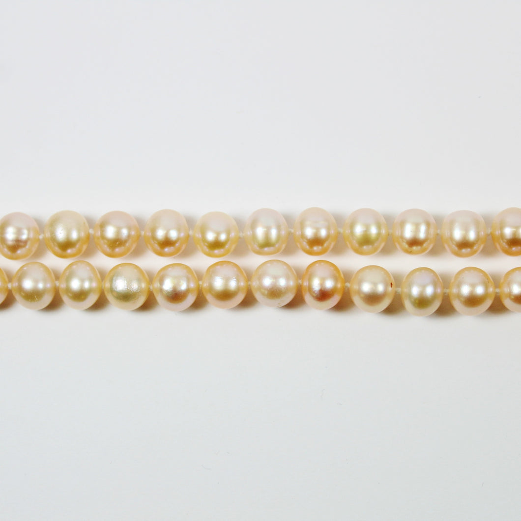 Pink Fresh Water Pearl Long Necklace