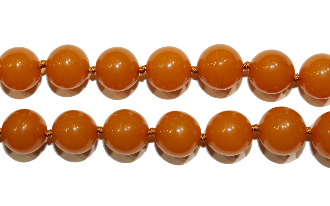 Orange Bakelite Necklace