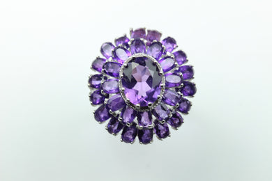 Sterling Silver Amethyst Princess Ring