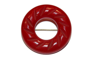 Red Bakelite Brooch