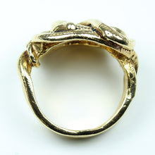 9ct Yellow Gold Serpent Cocktail Ring