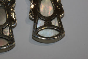 Mother of Pearl and Marcasite Drops