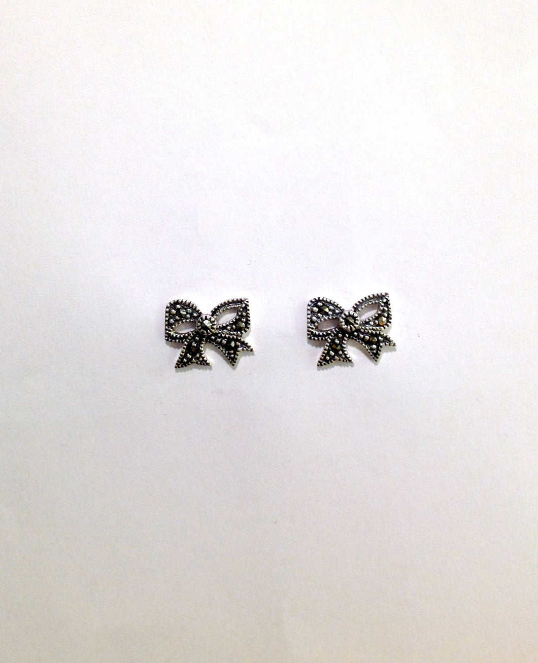 Art Deco Large Bow Stud Earrings