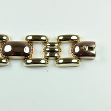 14ct Yellow And Rose Gold Linked Modernist Bracelet