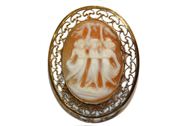 Victorian Three Graces Cameo