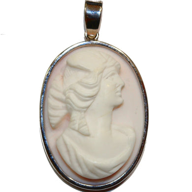 9ct Vintage Pink Cameo