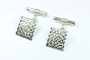 Sterling Silver Decorative Cuff Links