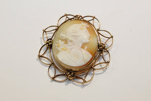 Edwardian Conch Cameo
