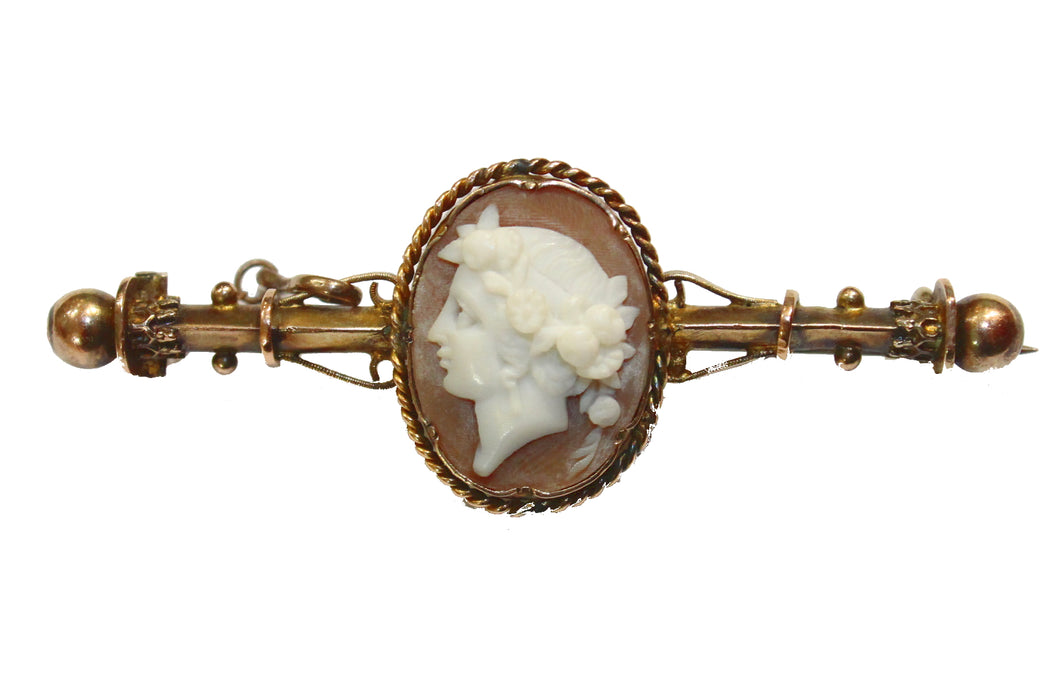 Greek Conch Shell Cameo Pin