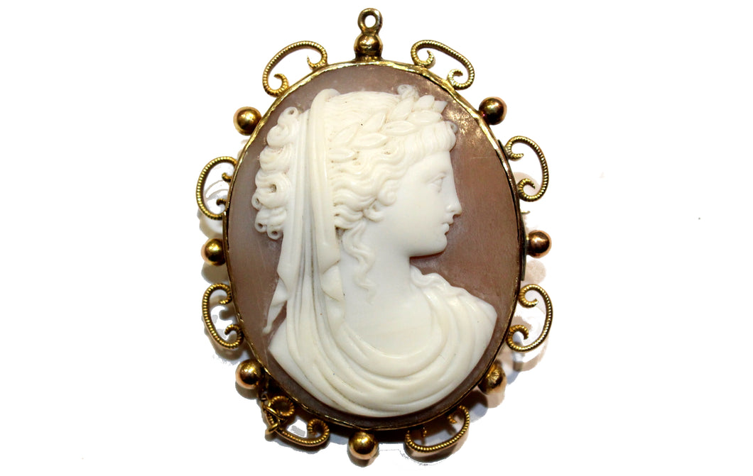 Victorian Gold Cameo