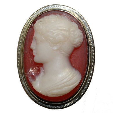 18ct Antique Carnelian Cameo Ring