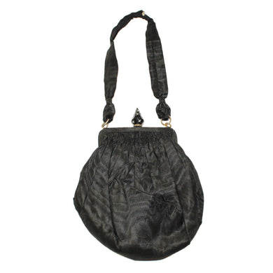 1920's Black Clutch Bag