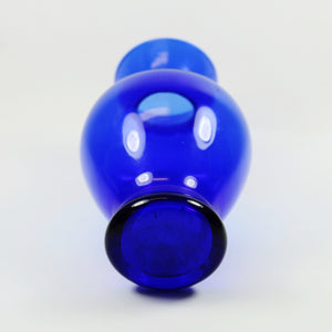 Small Vintage Cobalt  Blue Glass Vase