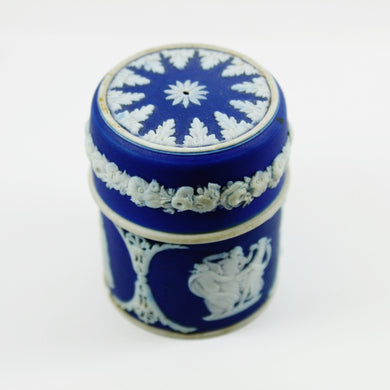 Small Dark Blue Vintage English Wedgwood Pot Jar