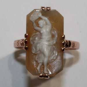 9ct Rose Gold Cameo Ring