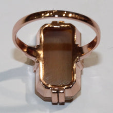 9ct Rose Gold Conch Shell Cameo Dress Ring