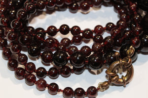 Dark Red Garnet Necklace