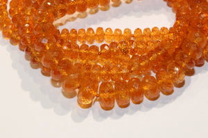 Faceted Mandarin Garnet Necklace