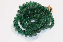 Graduated Forest Green Emerald Necklace