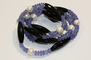 Tanzanite, Pearl and Spinel, Necklace