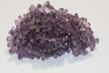 Faceted Drop Amethyst Necklace