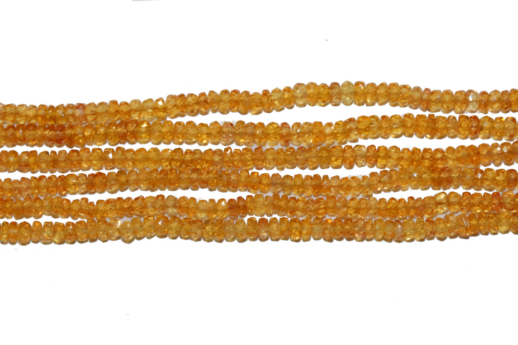 Natural Yellow Sapphire Necklace