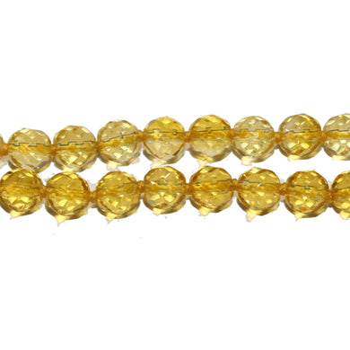 18ct Yellow Gold Faceted Citrine Beaded Necklace