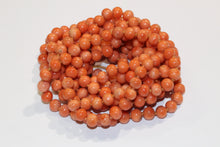 Extra Long Orange Coral Necklace