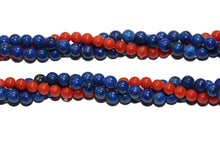 Natural Coral and Lapis Twist Necklace