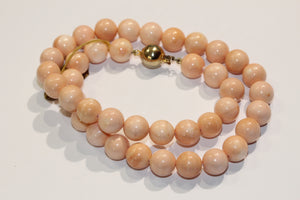 Light Pink Shell Coral Necklace