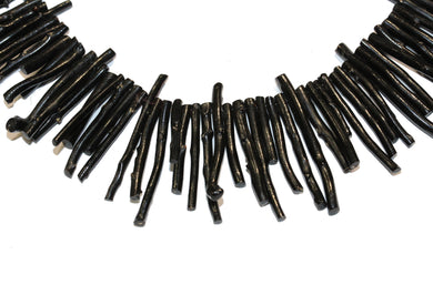 Natural Black Branch Coral Necklace