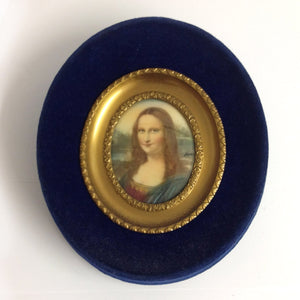 Handpainted Miniature Portrait of 'Mona Lisa'