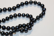Deep Blue Pearl Necklace