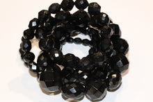 Faceted Victorian Whitby Jet Necklace