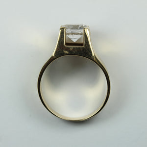 9ct Yellow Gold Modern White Spinel Ring