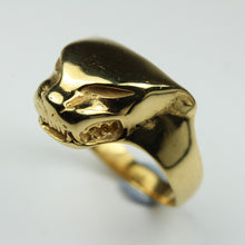 9ct Yellow Gold Panther Mens Ring