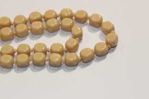 Cream Vintage Glass Necklace