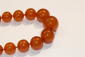 Vintage Orange Bakelite Necklace