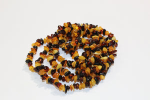 Tumbled Amber Chip Necklace