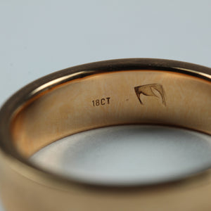 18ct Rose Gold Band Mens Ring