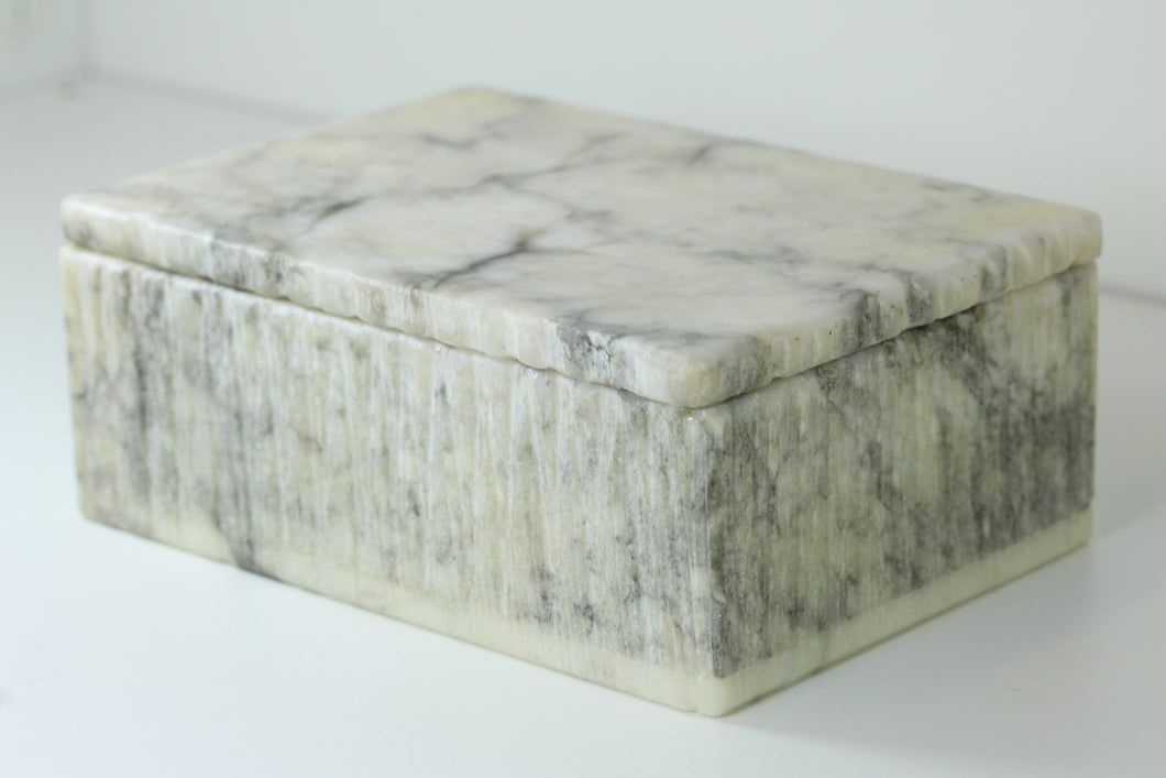 Small White Marble Jewellery Box