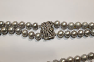 Grey Cultured Pearl Necklace