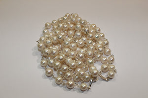 Silver Wire Cultured Pearl Necklace