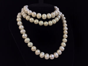 Opera Length Cultured Semi-Baroque Pearl Necklace