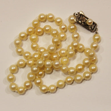 Vintage 1940's Mikimoto Pearl Necklace