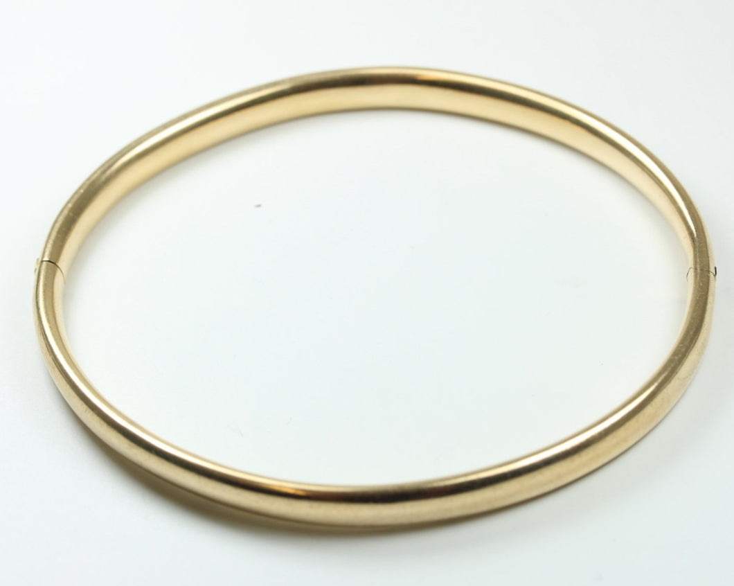 18ct Yellow Gold Hinged Bangle