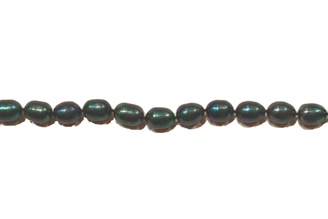 Green Semi-Baroque Pearl Necklace