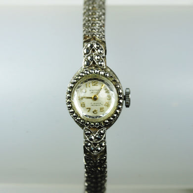 Waltham Ladies Marcasite Art Deco Wind Up Watch