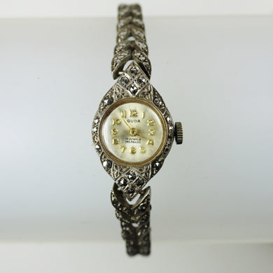 Guda Ladies Marcasite Art Deco Wind Up Watch